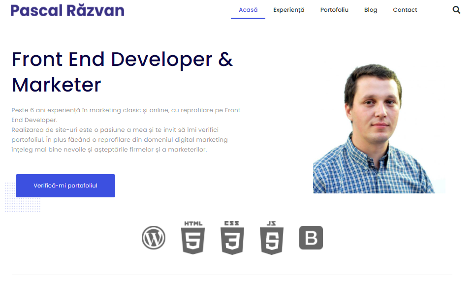 Site personal Pascal Razvan